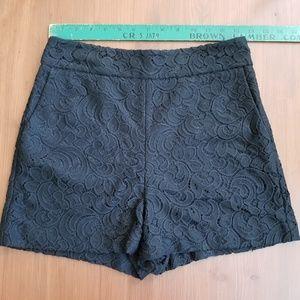 Express High Waisted Black Lace Shorts